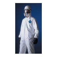 White Tyvek® Coverall With Serged Seams, Zipper Front, Elastic Wrists And Ankles, And Attached Elastic Hood (25 Per Case)