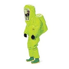 High-Visibility Lime Yellow Tychem® TK Encapsulated Level A Chemical Protection Suit