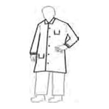 NexGen™ White Full-Cut Lab Coat With 5-Snaps 2-Pockets And Collar Size Small