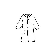 ProShield® 1 Blue Full-Cut Lab Coat With 5-Snaps 2-Pockets And Collar