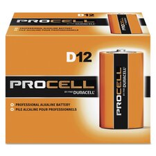 Procell Alkaline Battery, Size D, 12-Pack