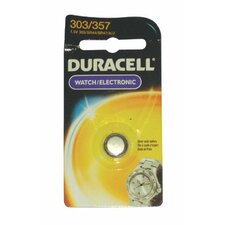 Duracell - Duracell Watch/Electronic Batteries 1.5 Volt Silver Oxide Watch Battery: 243-D303/357Pk - 1.5 volt silver oxide watch battery (Set of 6)