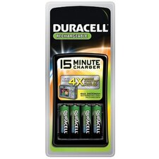 Duracell - Duracell 15-Minute Chargers 15 Minute Charger: 243-Cef15Nc - 15 minute charger