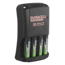 Battery Charger, For AA/AAA Batteries, 15 min Charge, Black