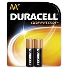 Alkaline Battery, AA, 2/PK