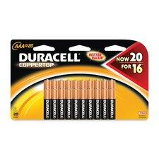 Batteries, AAA, 20/PK