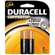 AA Cell Coppertop Alkaline Battery (Set of 2)