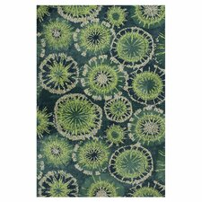 Allure Green Starburst Rug