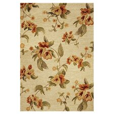 Meridian Beige Fiore Indoor/Outdoor Rug