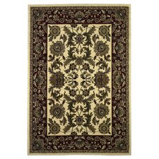 <strong>KAS Oriental Rugs</strong> Cambridge Ivory/Red Kashan Rug