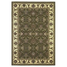 Cambridge Green/Ivory Kashan Rug