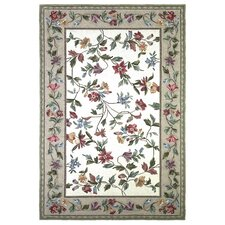 Colonial Ivory / White Floral Area Rug