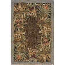 Colonial Black Jungle Rug