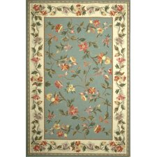 Colonial Slate Blue/Ivory Floral Rug