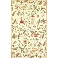 Colonial Floral Ivory Rug