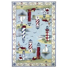 Colonial Lake House Nautical Novelty Rug