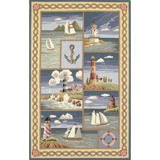 <strong>KAS Oriental Rugs</strong> Colonial Coastal Views Nautical Novelty Rug