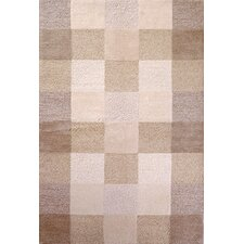 Eternity Ivory Checkerboard Area Rug