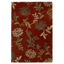 Florence Red Floral Area Rug