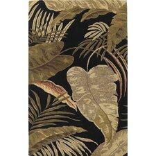 Havana Rainforest Midnight Brown/Tan Plants Area Rug