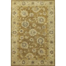 Kasmir Coffee/Beige Allover Kashan Rug