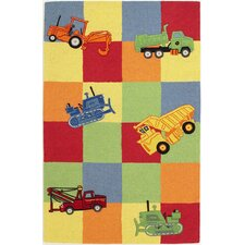 Kidding Around Trucks Galore Kids Rug