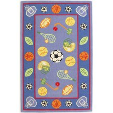 <strong>KAS Oriental Rugs</strong> Kidding Around Let's Play Ball Kids Rug