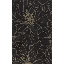 Bali Charcoal/Taupe Floral Chic Area Rug