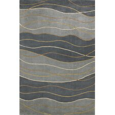 Signature Black/Gray Seaside Waves Area Rug
