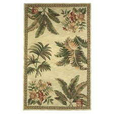 Sparta Ivory Tropical Oasis Area Rug