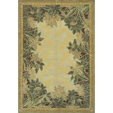 Sparta Beige Tropical Area Rug