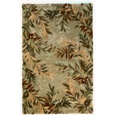 Sparta Sage Tropical Branches Area Rug