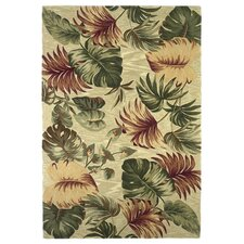 Sparta Beige Palm Leaves Area Rug