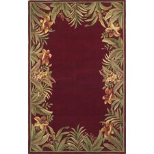 Sparta Red Rainforest Area Rug
