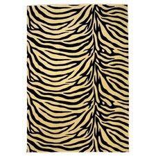Moda Ivory/Black Zebra Rug