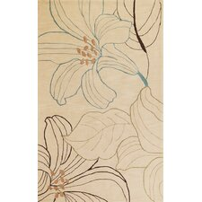 Bali Beige Lily Area Rug