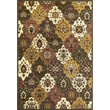 Cambridge Green/Plum Panel Rug