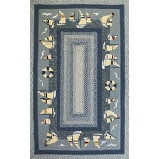 Fairfax Sailboats Novelty Rug