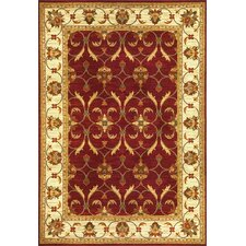 Lifestyles Red/Ivory Agra Rug