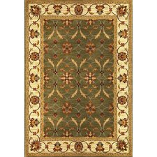 Lifestyles Green/Ivory Agra Rug