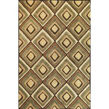 Milan Beige Diamonds Rug