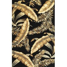 Sparta Black Ferns Area Rug
