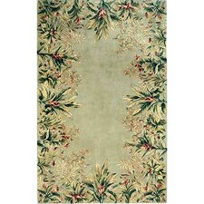 Emerald Sage Tropical Border Rug