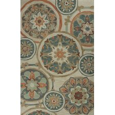 Anise Mosaic Tan Area Rug