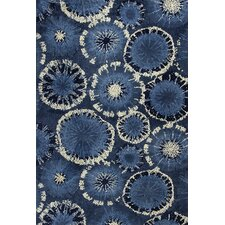 Allure Blue Starburst Rug