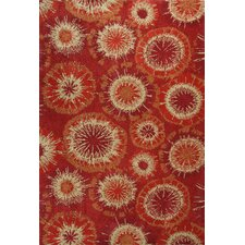 Allure Rust Starburst Rug