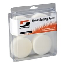 "3"""" White Foam Polishing Pads (Four In Clear Pkg.)"