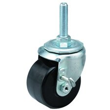 Low Profile Medium Duty Casters - 3x1-3/4 low profile 18 post swivel caster