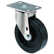 Medium Duty Institutional Casters - 6x1-3/8 institutional 97plate swivel caster