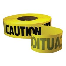 Empire Level - Safety Barricade Tapes Econo Grade Caution Tape-Yellow W/Black Print: 272-71-1001 - econo grade caution tape-yellow w/black print